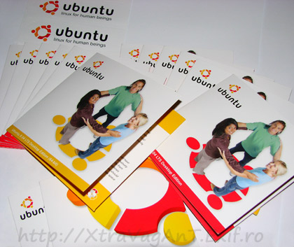Ubuntu CD gratis free sticker